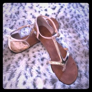 Zigi girl sandals with gold accents, size 10